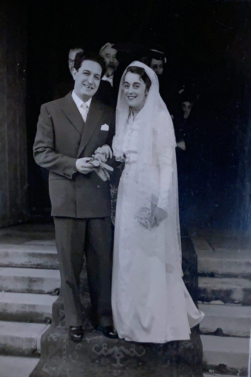 G.Folena con la moglie E.Marcilhacy