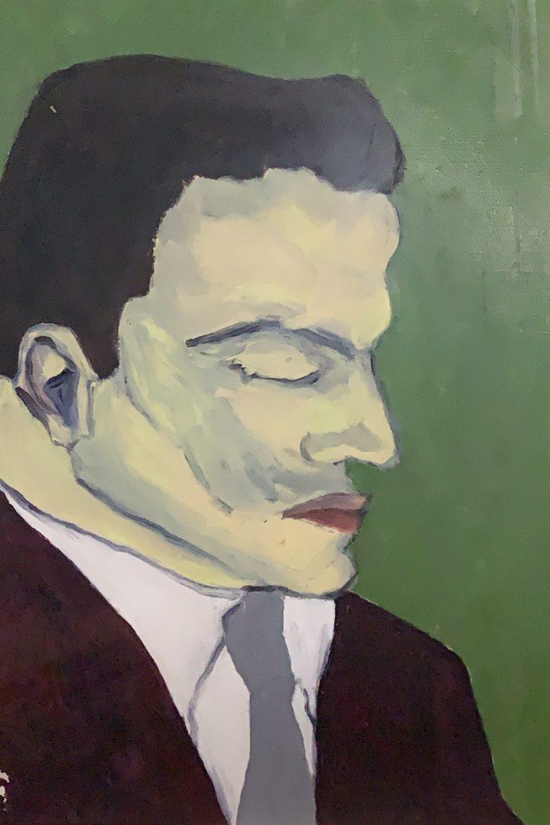 Ritratto di G.Folena realizzato dalla moglie E.Marcilhacy